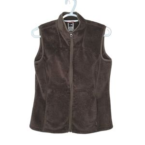 The North Face Green Sleeveless Fleece Full Zipper Vest with Pockets Woman's M